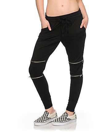 Lunachix Moto Zip Jogger Pants