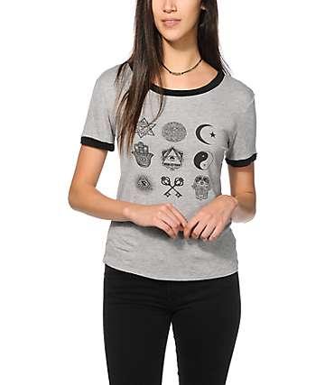 Lunachix Multi Print camiseta ringer