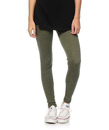 Lunachix Olive Ribbed Leggings