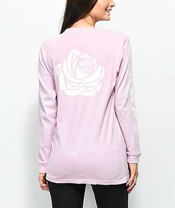Lunachix Rose Sleeve Hit Pink Long Sleeve T-Shirt