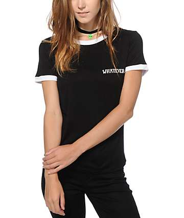 Lunachix Whatever Ringer T-Shirt