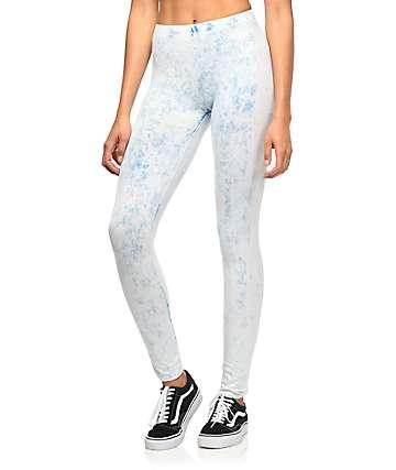 Lunachix leggings azules con lavado cristal