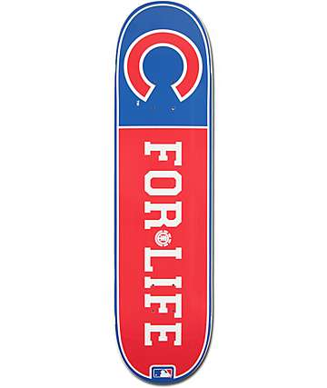 "MLB Element Cubs For Life 8.0""  Skateboard Deck"