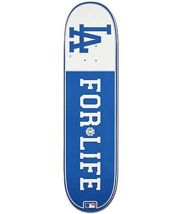 """MLB Element Dodgers For Life 8.0"""" Skateboard Deck"""