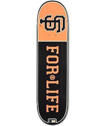 "MLB Element Giants For Life 8.0""  Skateboard Deck"