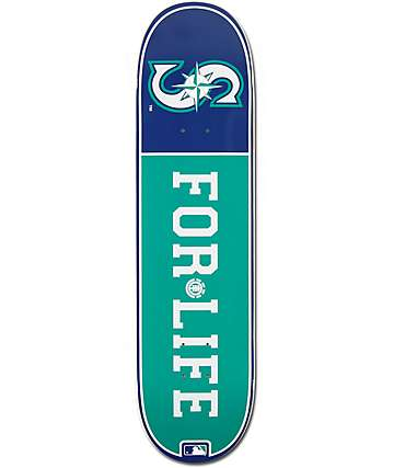 "MLB Element Mariners For Life 8.0"" Skateboard Deck"