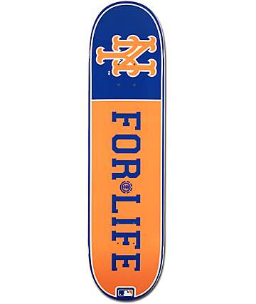 """MLB Element Mets For Life 8.0"""" Skateboard Deck"""
