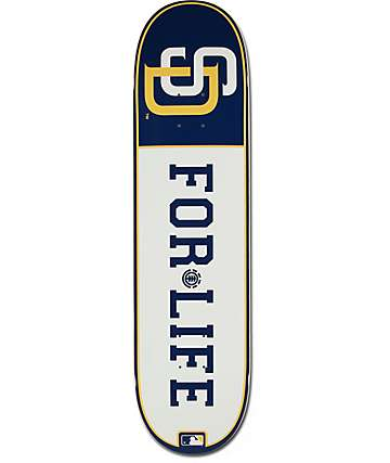 "MLB Element Padres For Life 8.0"" Skateboard Deck"