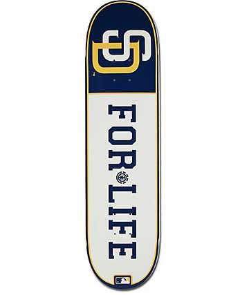 "MLB Element Padres For Life 8.0"" Skateboard Deck"