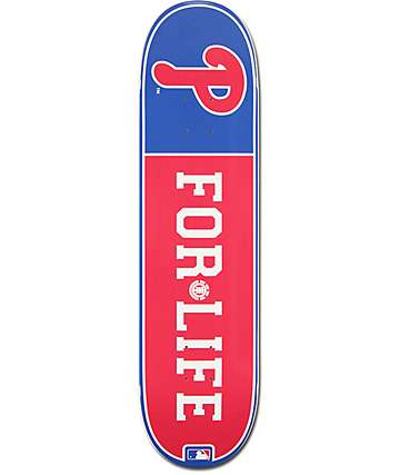 "MLB Element Phillies For Life 8.0""  Skateboard Deck"