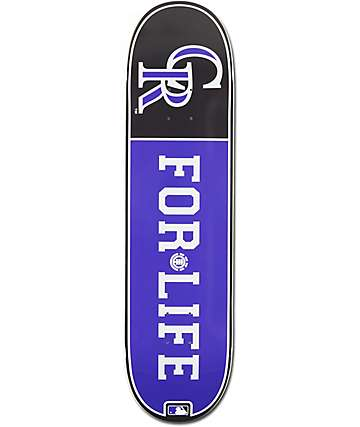 "MLB Element Rockies For Life 8.0"" Skateboard Deck"