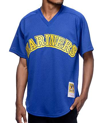 MLB Mitchell and Ness Mariners Griffey 91 Blue Jersey