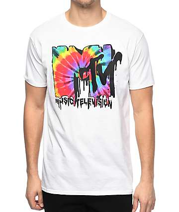 MTV Melt Tie Dye White T-Shirt