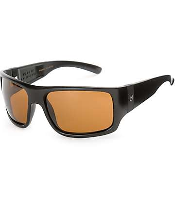 Madson Manic Matte Black & Bronze Polarized Sunglasses