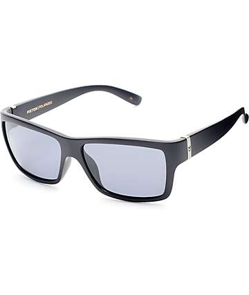 Madson Piston Matte Black & Grey Polarized Sunglasses