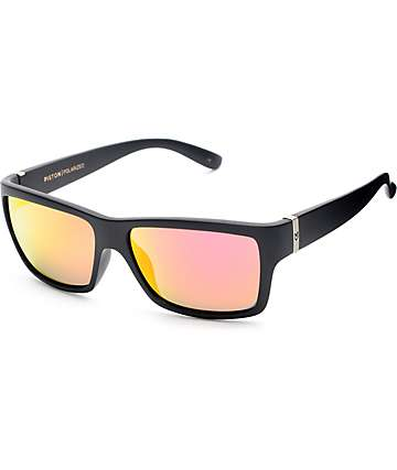Madson Piston Matte Black & Red Polarized Sunglasses