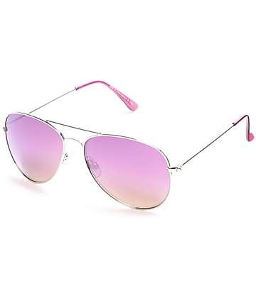 Maestro Silver Aviator Sunglasses