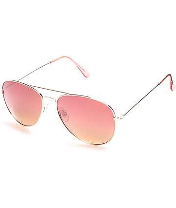 Maestro gafas de sol aviator en color oro
