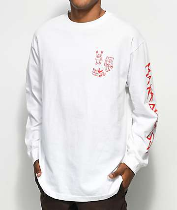 Maka Lassi White Long Sleeve T-Shirt