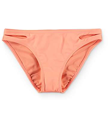 Malibu Laser Love Hipster Coral Side Cut Bikini Bottom