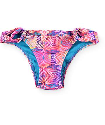 Malibu Optic Basket Tribal Tab Side Bikini Bottom