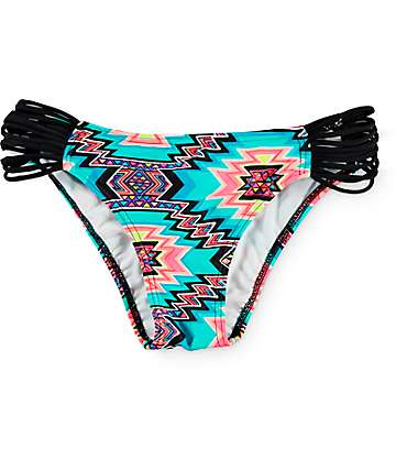 Malibu Rockin Vibrations Strappy Hipster Bikini Bottom