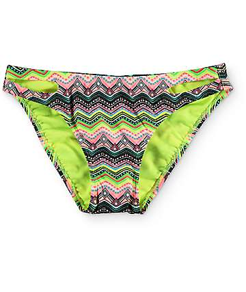 Malibu Tribal Wave Lemon Hipster Bikini Bottom