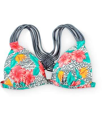 Malibu Tropic Wanderer Molded Halter Bikini Top