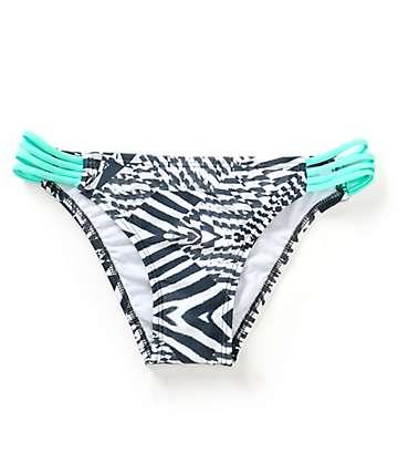Malibu Zebra Fractals Side Strap Bikini Bottom