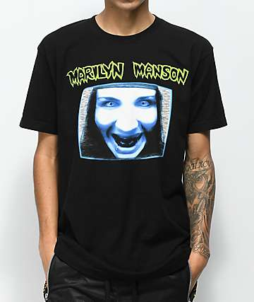 Marilyn Manson TV Black T-Shirt