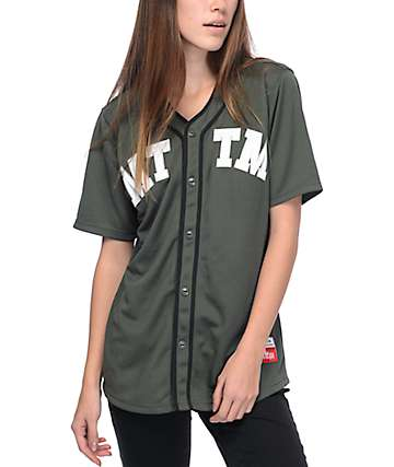 Married To The Mob 04 Army Green Jersey