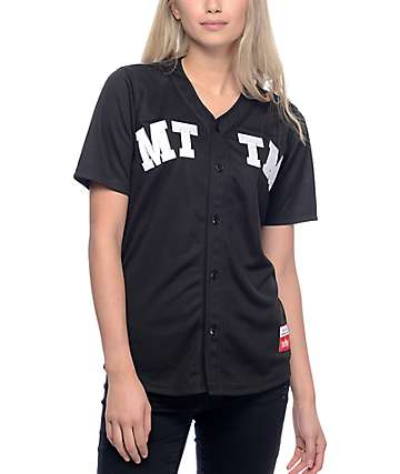 Married To The Mob 04 Black Baseball Jersey