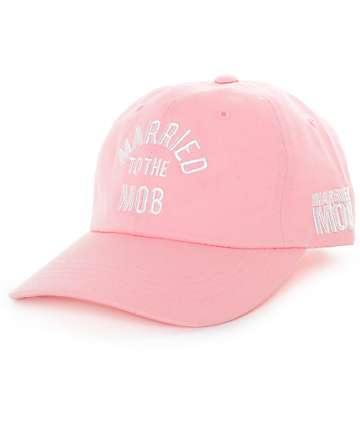Married To The Mob Arc Logo Pink Baseball Hat