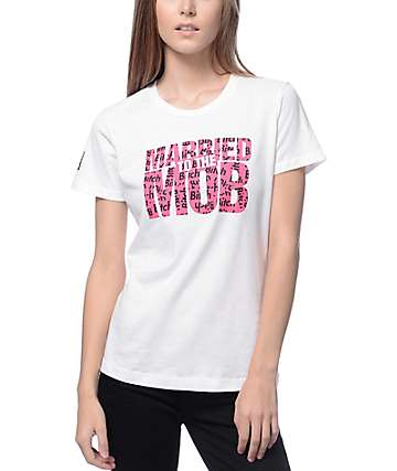 Married To The Mob B*tch All Over White Logo T-Shirt