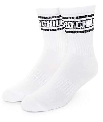 Married To The Mob Chill Tho White Crew Socks