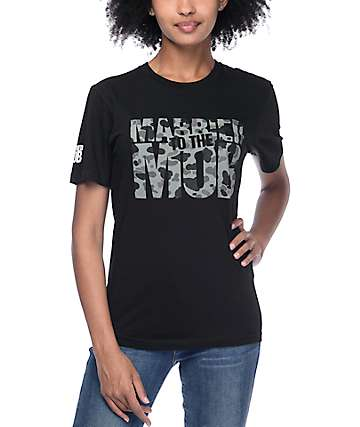 Married To The Mob Core Logo Black & Camo T-Shirt