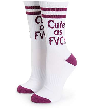 Married To The Mob Cute AF Crew Socks