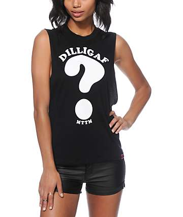 Married To The Mob DILLIGAF Muscle Tee