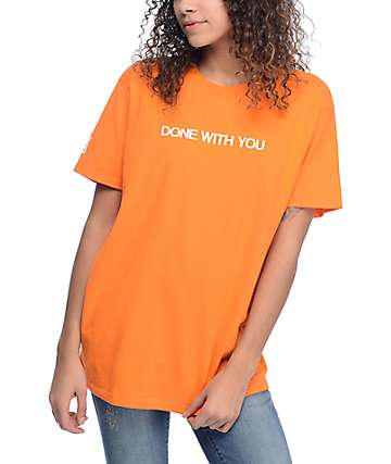 Married To The Mob Done With You Orange T-Shirt