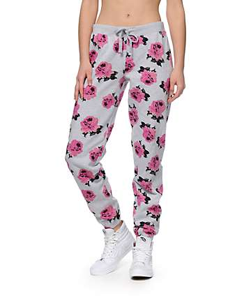 Married To The Mob Floral Jogger Pants