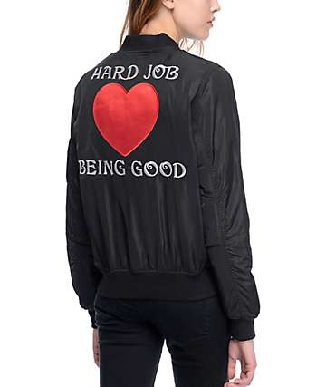 Married To The Mob Fly High chaqueta bomber en negro