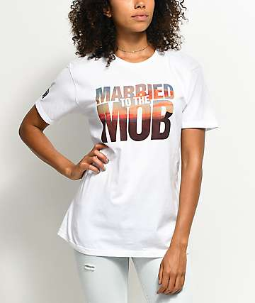 Married To The Mob Georgia White T-Shirt