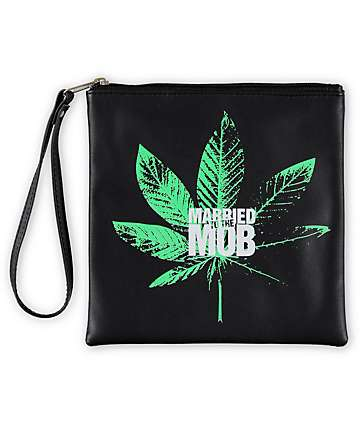 Married To The Mob Kush Logo Pouch