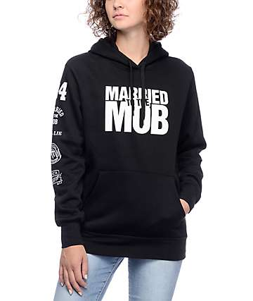 Married To The Mob MTTM Box Logo Black Hoodie