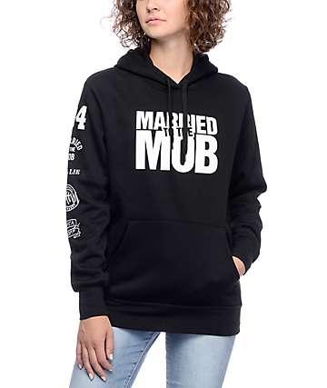 Married To The Mob MTTM Box Logo Black Hoodie