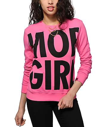 Married To The Mob Mob Girl Crew Neck Sweatshirt