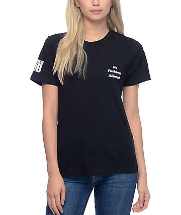 Married To The Mob No Fuckboys Allowed Black Pocket T-Shirt