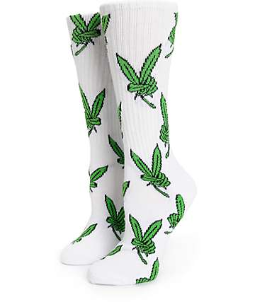 Married To The Mob Peace Weed Crew Socks