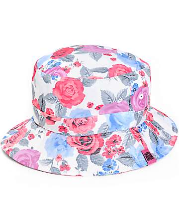 Married To The Mob Pretty Bitch Floral Bucket Hat