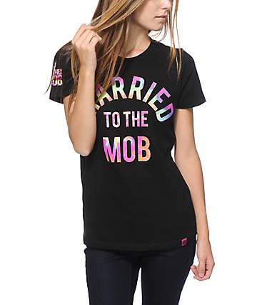 Married To The Mob Rainbow Tie Dye Arc Logo T-Shirt